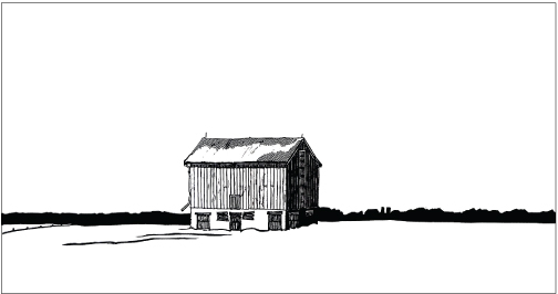504x266 The Red Barn Clive Lewis, Printmaker