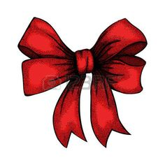 Red Bow Drawing