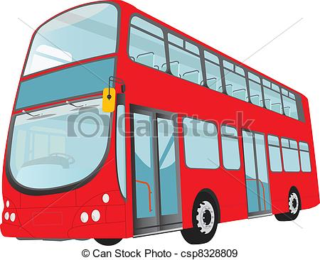 450x366 london bus london red bus on white background vector