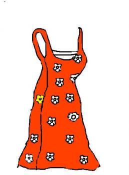 258x350 How To Draw A Summer Dress, Step