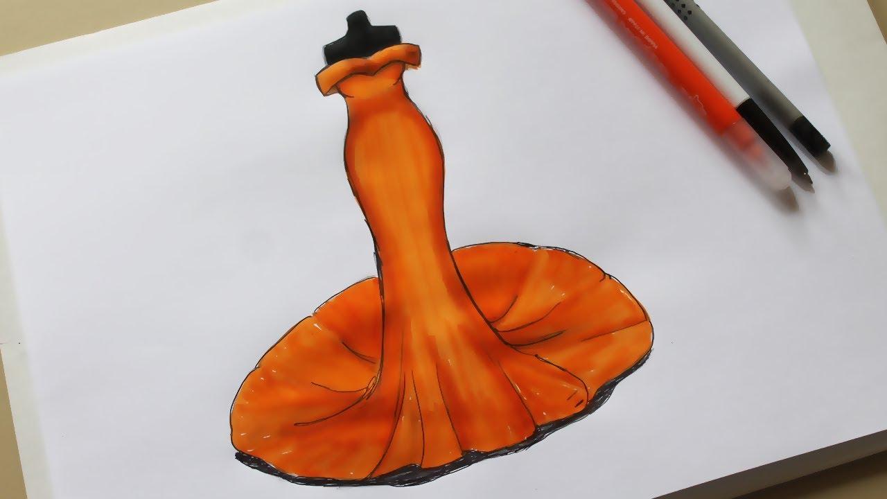 1280x720 How To Draw Evening Dress