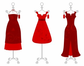 268x212 Realistic Drawing Of Little Red Dress Vectors Stock In Format