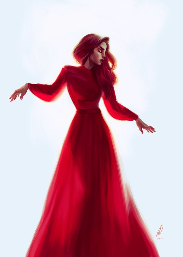 714x1000 Red Dress Small Print Via Saruca Tepes Click On The Image