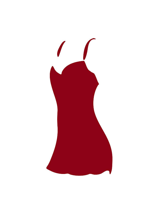 673x900 Red Dress Painting