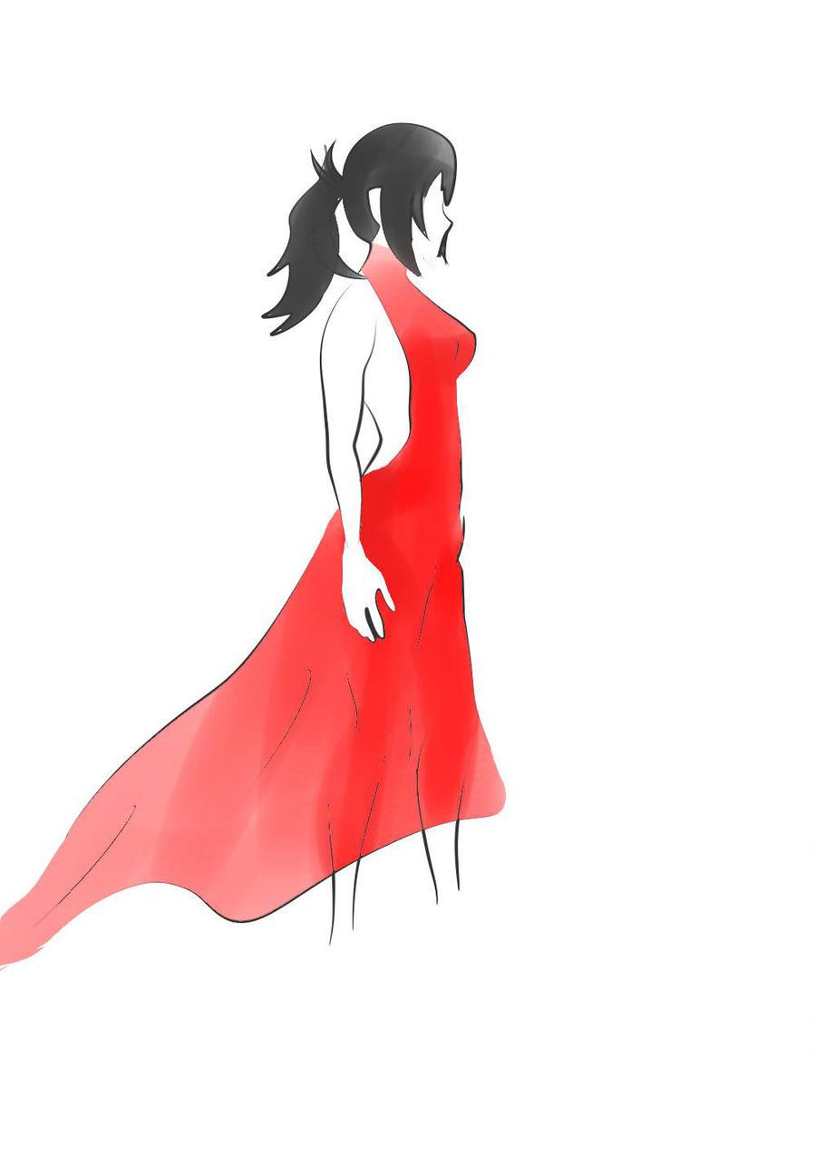 900x1273 Red Dress Sketch