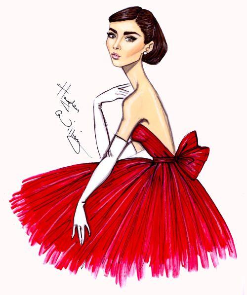 500x598 Audrey 'little Red Dress'