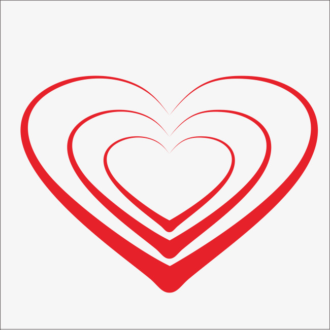 650x651 creative love red line png element free png download png vector