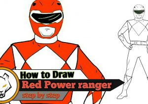300x210 Learn How To Draw Red Ranger From Power Rangers Power