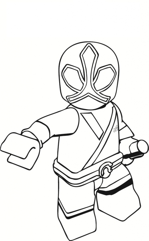 632x1024 Red Power Ranger Coloring