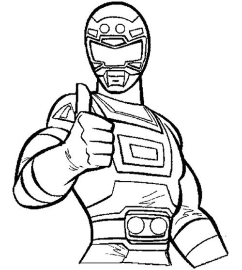 500x557 Power Rangers Red Turbo Coloring Book Kids Coloring Pages