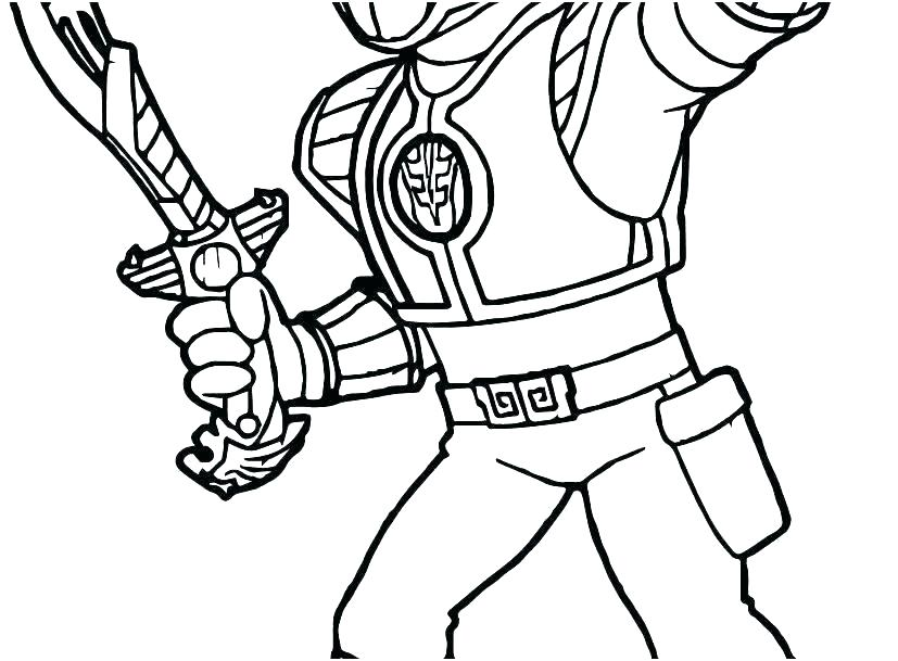827x609 Power Rangers Samurai Coloring Pages Power Ranger Coloring Pages