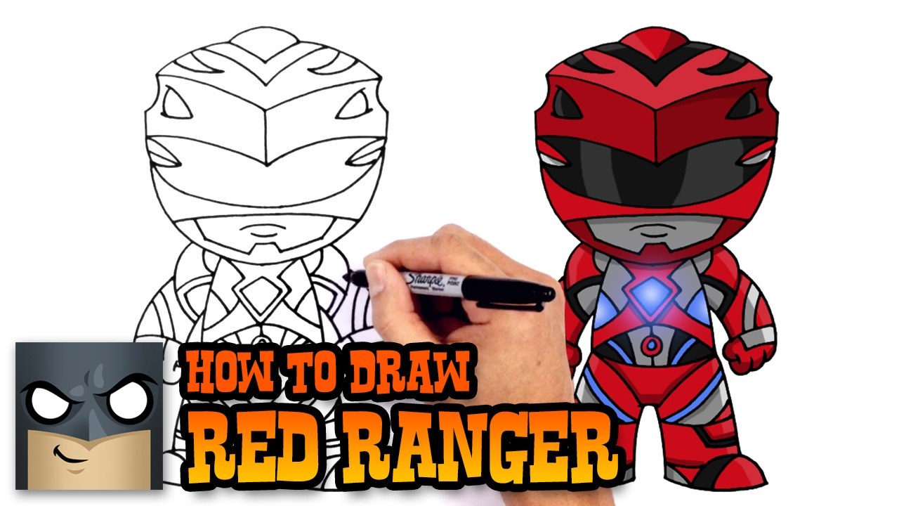 1280x720 How To Draw Red Ranger Power Rangers