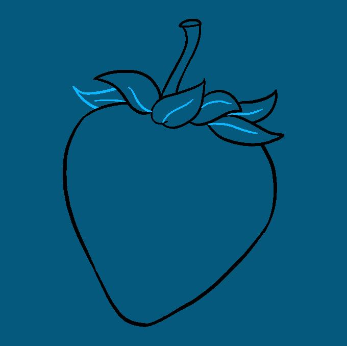 680x678 How To Draw A Strawberry