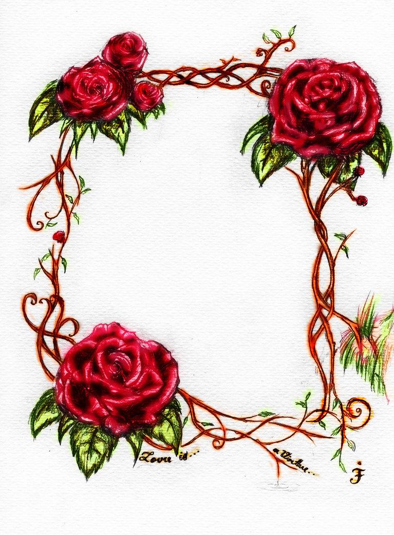 767x1042 Rose Vines Drawings