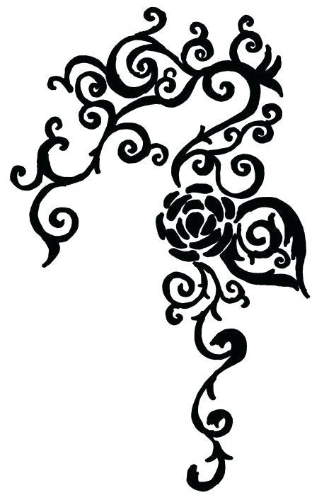 441x699 Rose Vines Drawings Rose Vine Drawing Designs Best Ideas