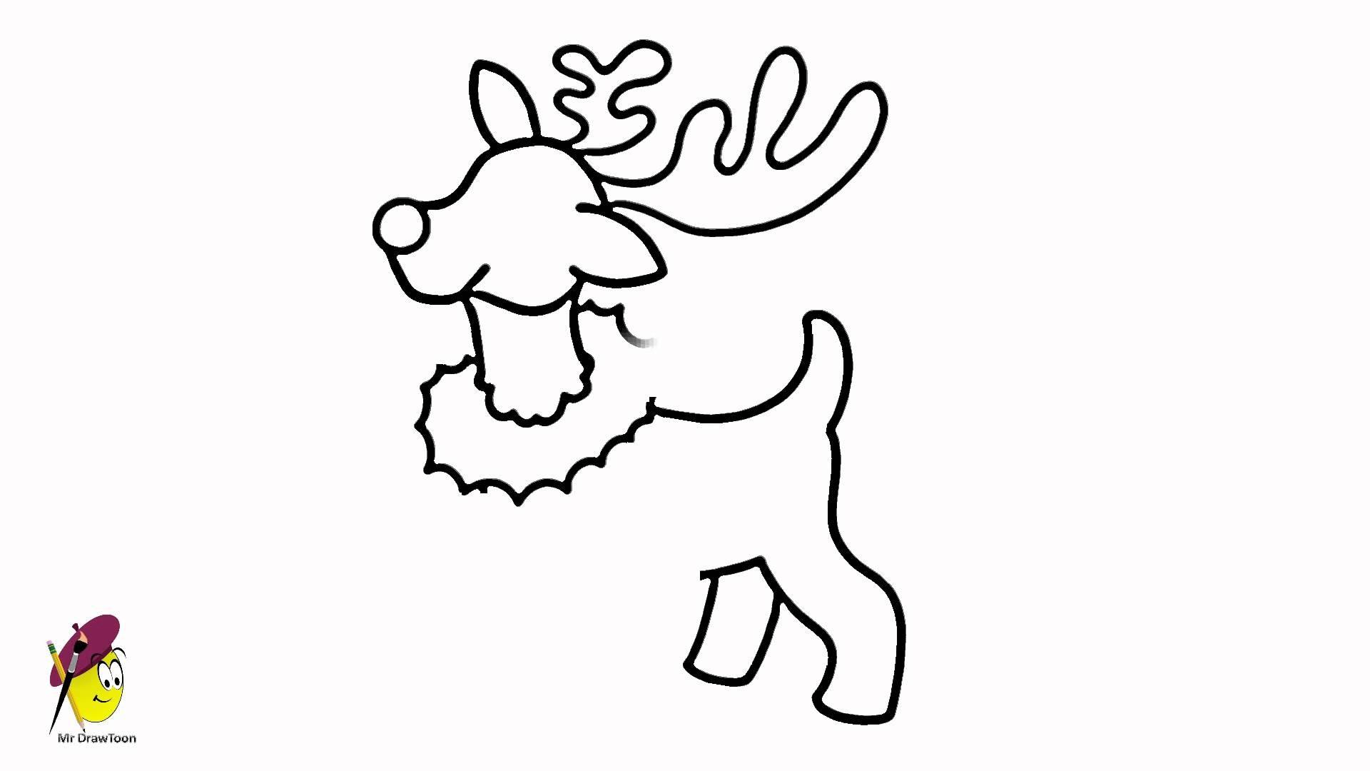 1920x1080 reindeer drawing new santas reindeer how to draw a reindeer easy