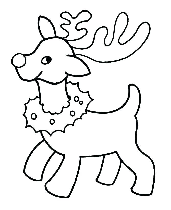 Reindeer Drawing Template   Free download on ClipArtMag