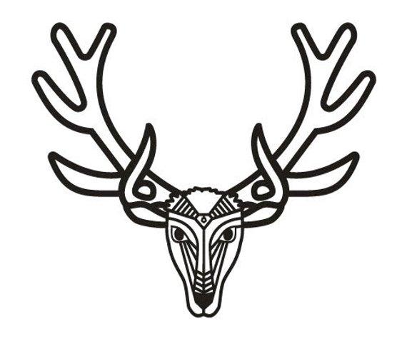 570x475 reindeer vector deer laser pattern laser cut template vinyl etsy