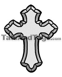 200x250 Cross Temporary Tattoos Religious Designs
