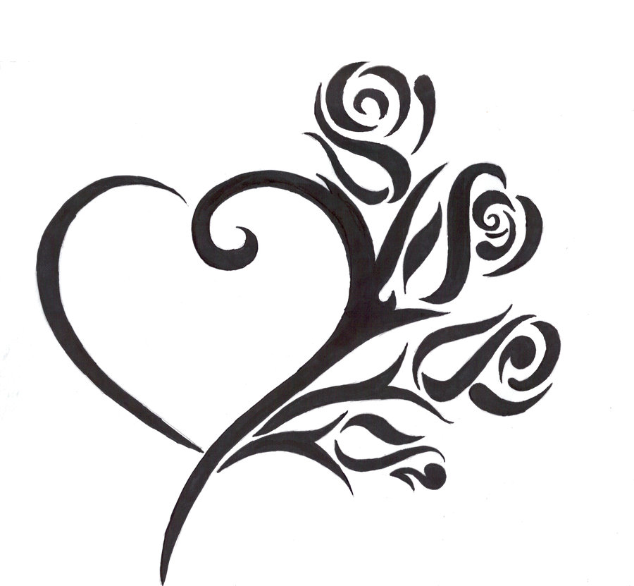 900x831 Huge Collection Of 'heart Tattoo Drawing' Download More Than