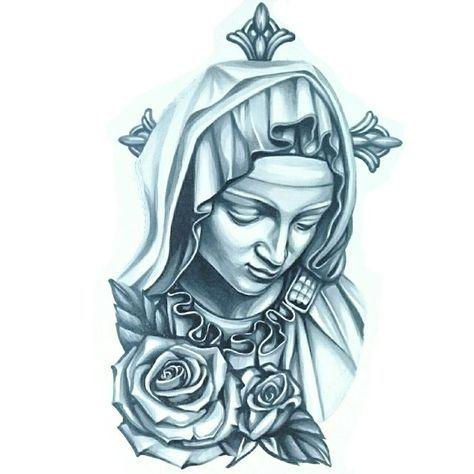 474x474 Graffiti Art Tattoos, Jesus Tattoo, Maria Tattoo