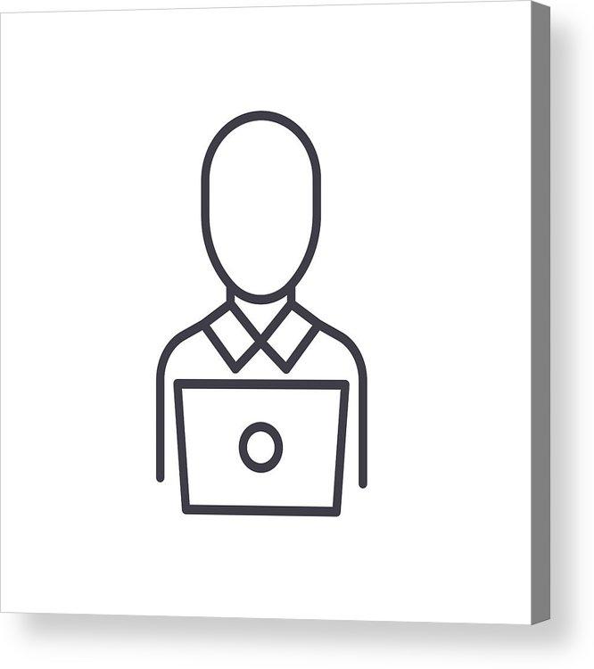 666x750 remote worker black icon concept remote worker flat vector symbol