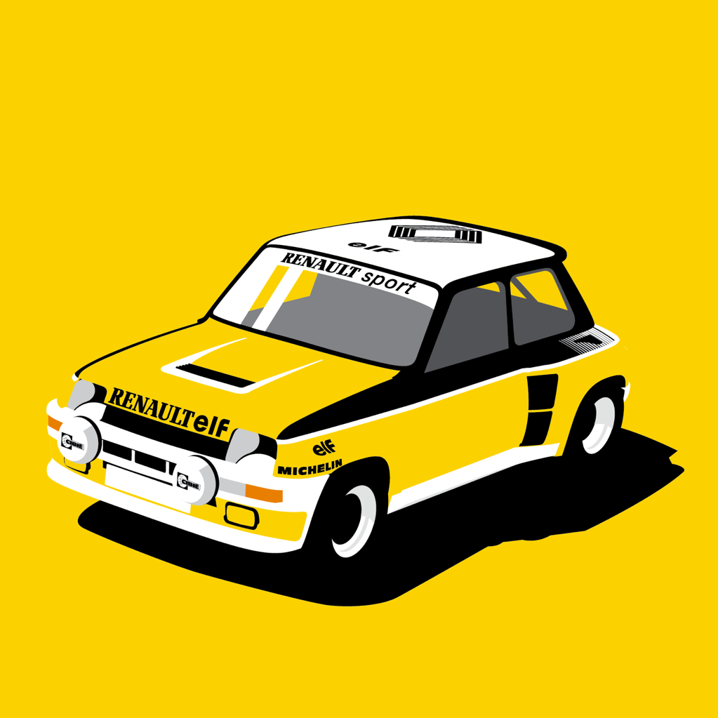 1023x1023 My Illustration Of A Renault Turbo! Cars