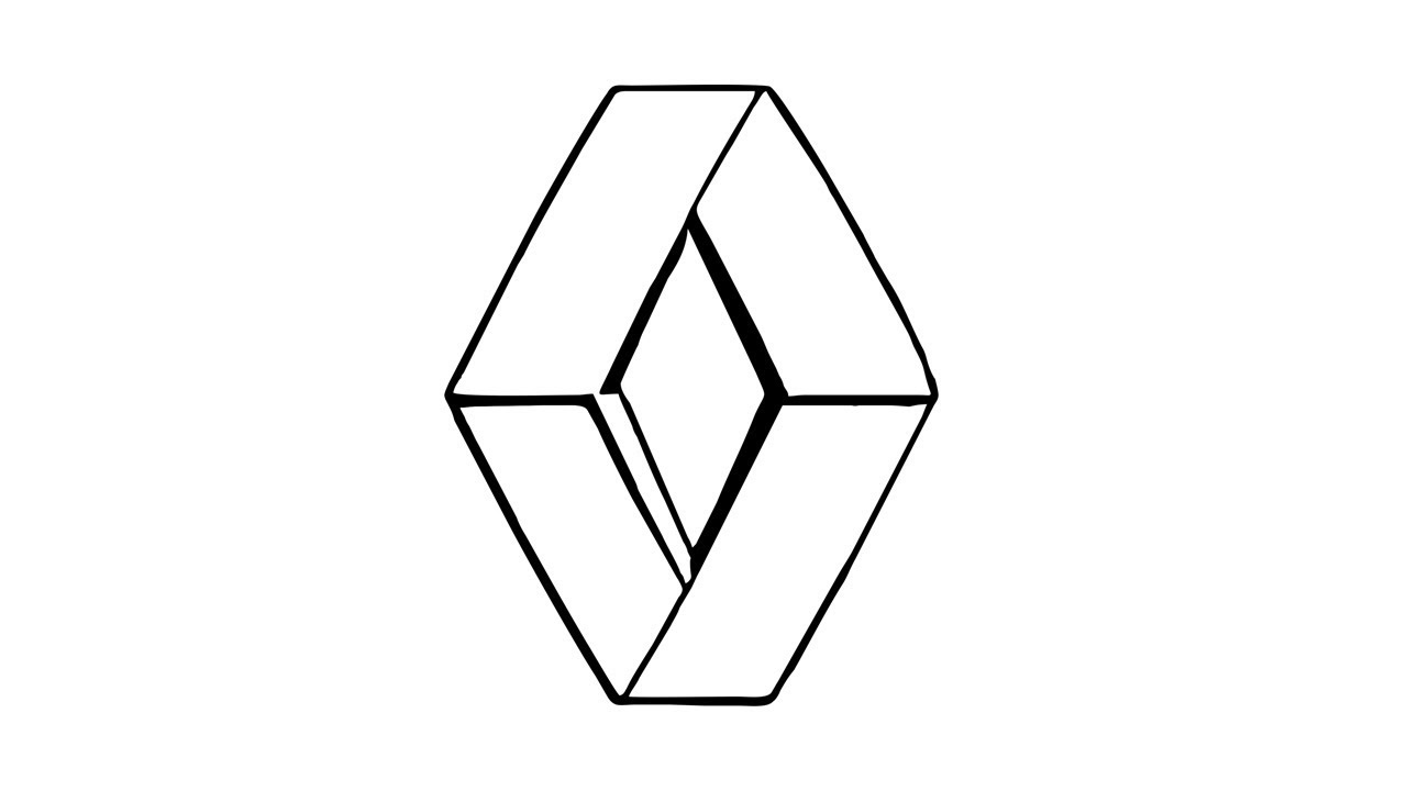 1280x720 How To Draw The Renault Logo