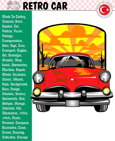 398x490 Car, Retro Car, Car Stories, Vector
