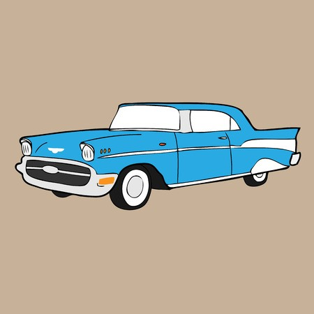 450x450 Classic Retro Car Cartoon Drawing Royalty Free Vector Graphics