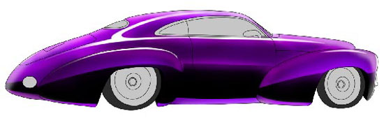 550x169 Retro Car Drawing Photoshop Tutorials Designstacks