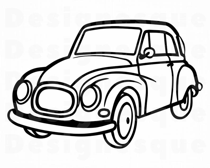 794x635 Retro Car Vintage Car Retro Car Clipart Retro Car Etsy