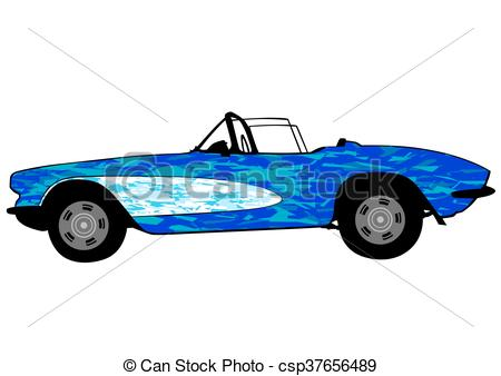 450x338 Sports Retro Car Retro Sports Car On White Background