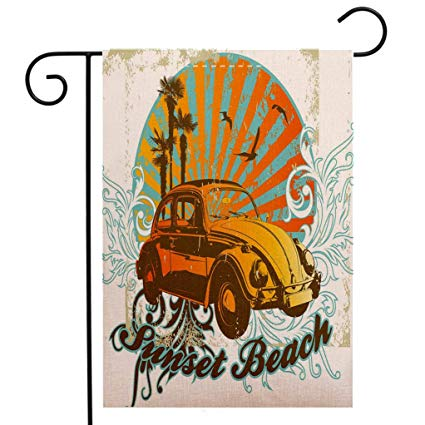 425x425 Creative Home Garden Flag Cars Summer Inspired