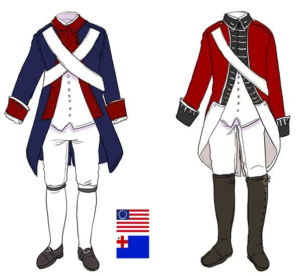 600x549 American And British Uniforms During The Revolutionary War