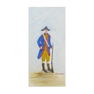 300x300 Revolutionary War Patriot Painting