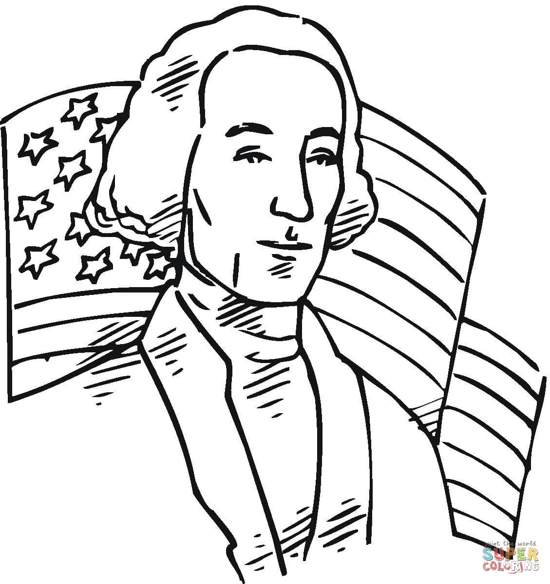 1129x1200 George Washington Color Page, President George Washington