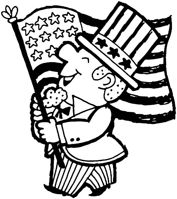 600x674 American Revolution Flag On Independence Day Coloring Pages Bulk