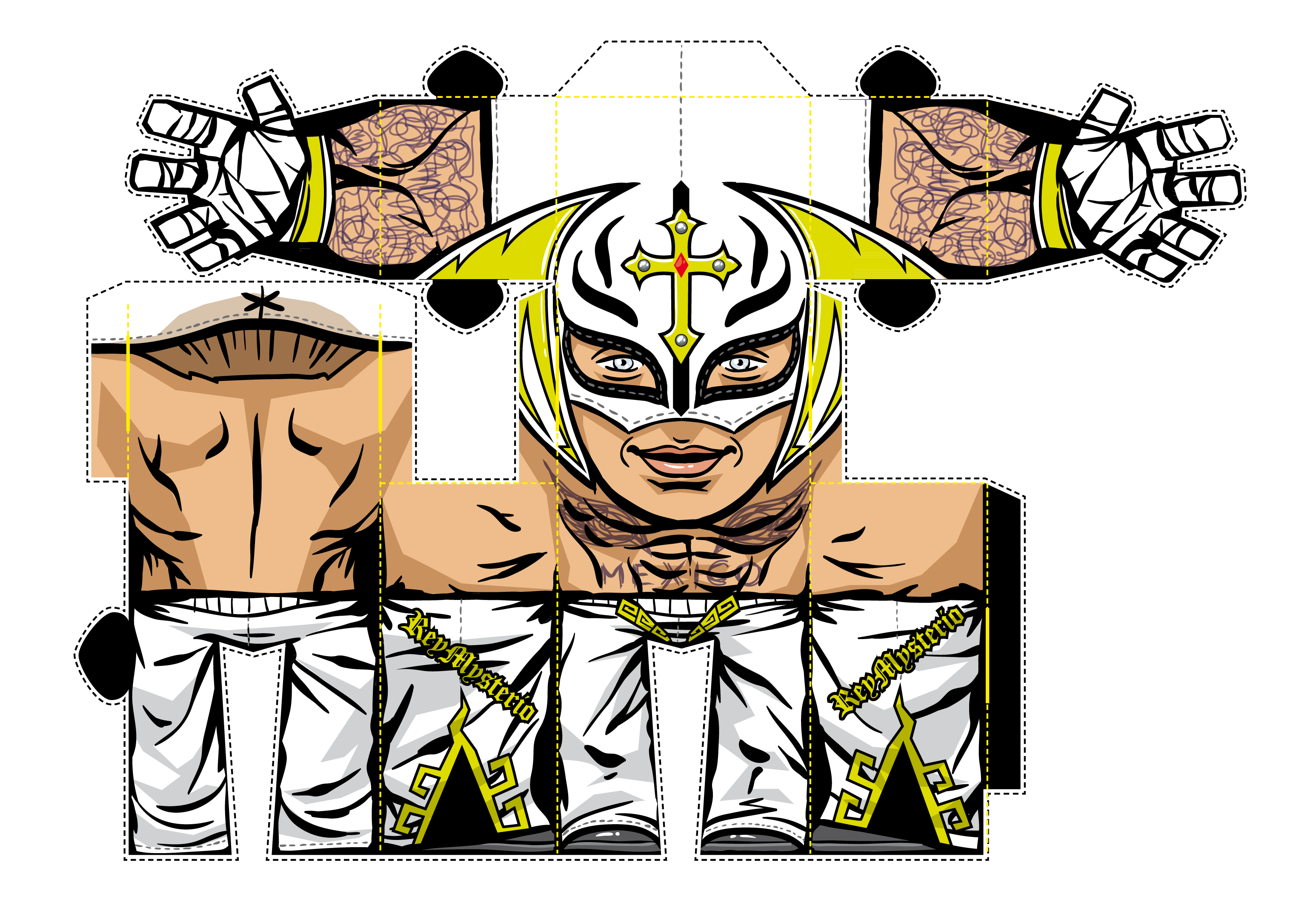 Rey Mysterio Mask Drawing