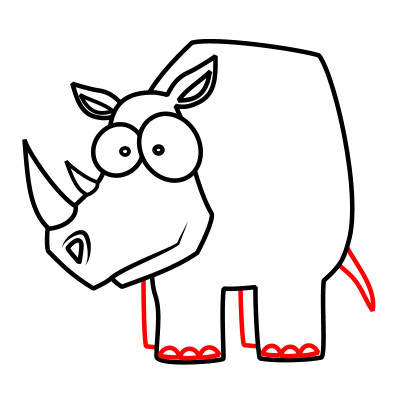 400x400 how to draw a rhino how to draw a realistic rhino letter alimy us
