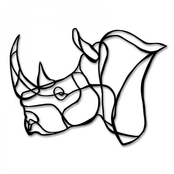 600x600 rhino drawing rhino head for free download