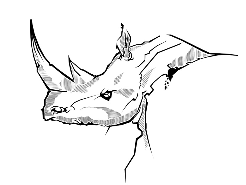 Rhino Line Drawing | Free download best Rhino Line Drawing