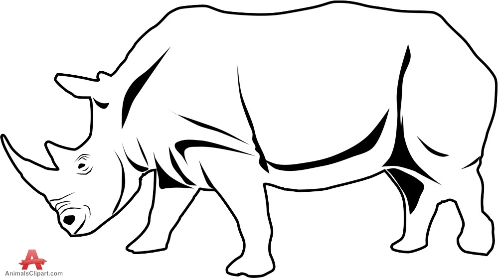 999x558 rhino clipart rhino outline