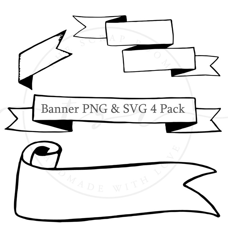 794x794 banner bundle banner clip art banner clipart ribbon etsy