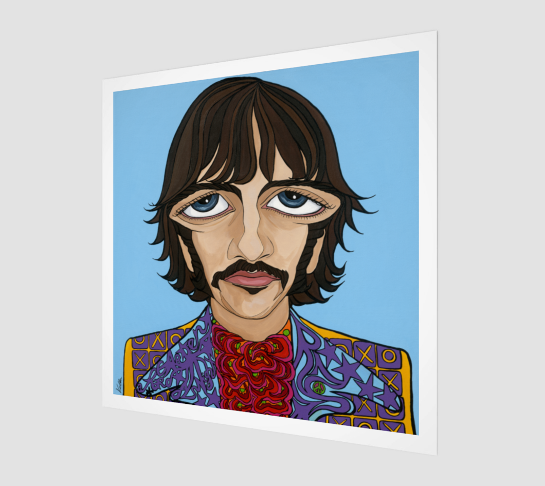 1060x946 Ringo Starr, The Beatles, Limited Edition Print Michelle Vella