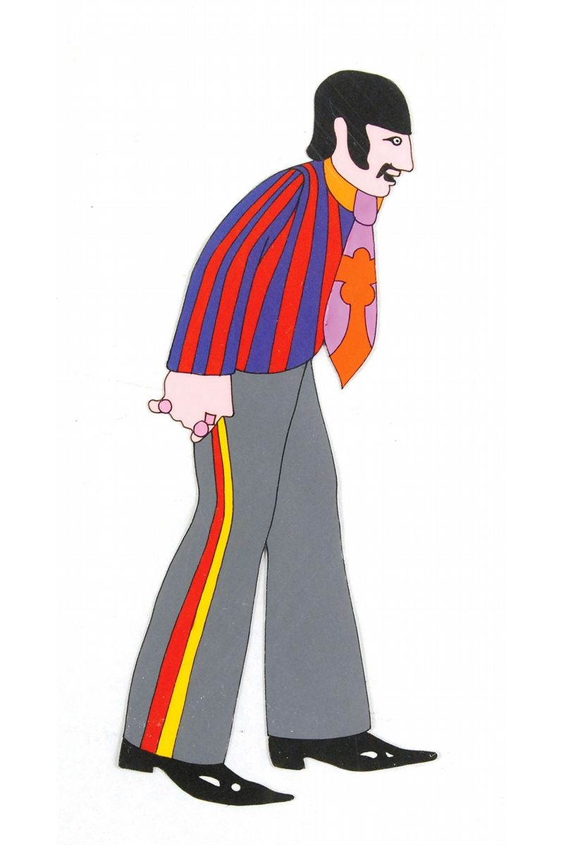 796x1200 Ringo Starr Production Cel From Yellow Submarine