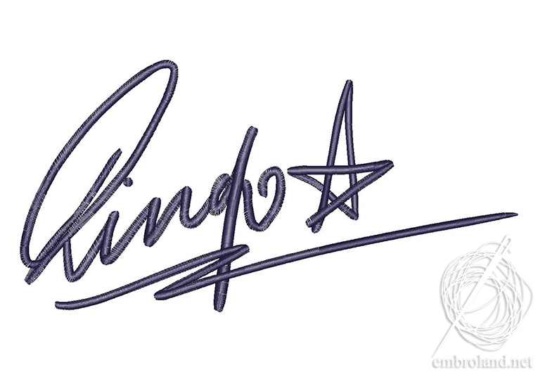 765x529 Ringo Starr Signature Embroidery Design