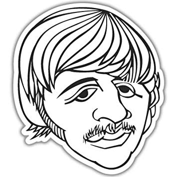 355x355 The Beatles Ringo Starr Vynil Car Sticker Decal
