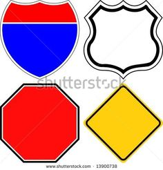 Road Signs Drawing