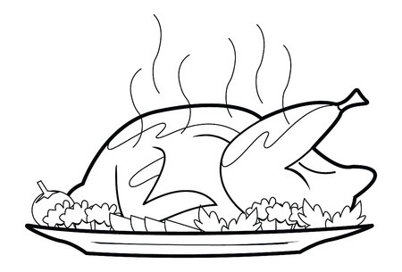 450x305 Roasted Chicken Royalty Free Vector Graphics